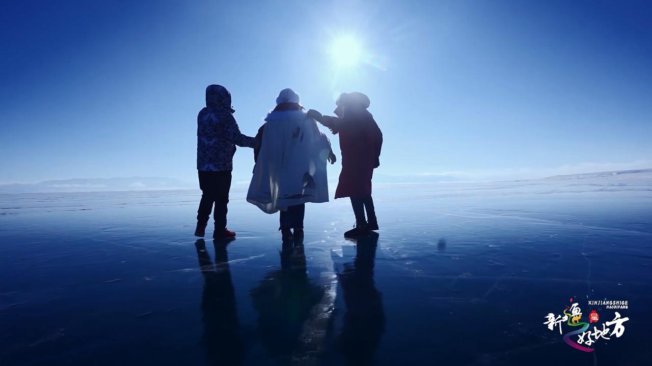 賽里木湖冰雪游 感受神奇大自然